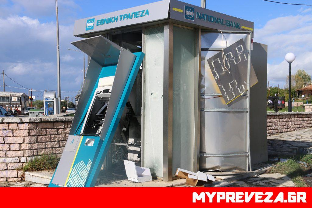 Έκρηξη στο ΑΤΜ της Εθνικής Τράπεζας στο Κανάλι Πρέβεζας - Πάνω από 50 χιλιάδες ευρώ η λεία