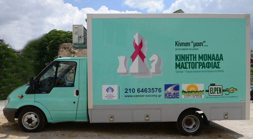 Πρέβεζα: Στον πεζόδρομο της Λαϊκής Αγοράς η Κινητή Μονάδα Μαστογράφου της Ελληνικής Αντικαρκινικής Εταιρίας