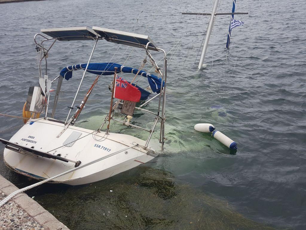 Πρέβεζα: Βυθίστηκε ιστιοφόρο σκάφος στο Λιμάνι της Πρέβεζας