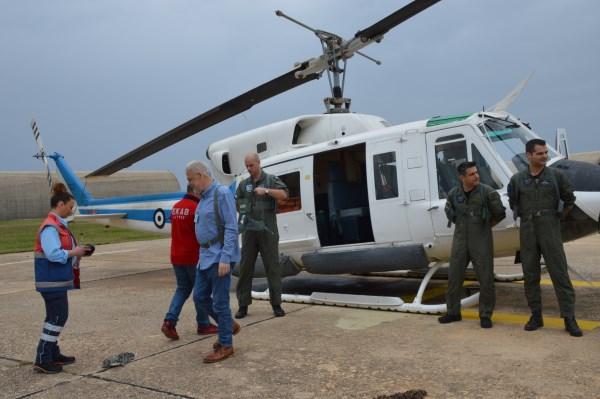 Πρέβεζα: Η πρώτη δοκιμαστική πτήση του ΕΚΑΒ στο Άκτιο