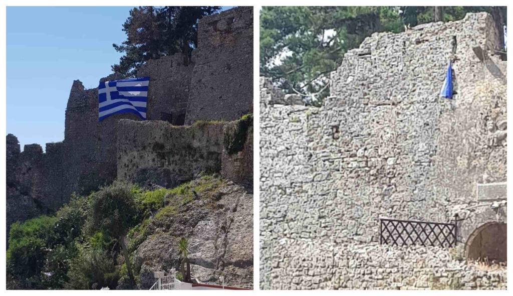 Πάργα : Νεαροί έσκισαν την Ελληνική σημαία στο Κάστρο