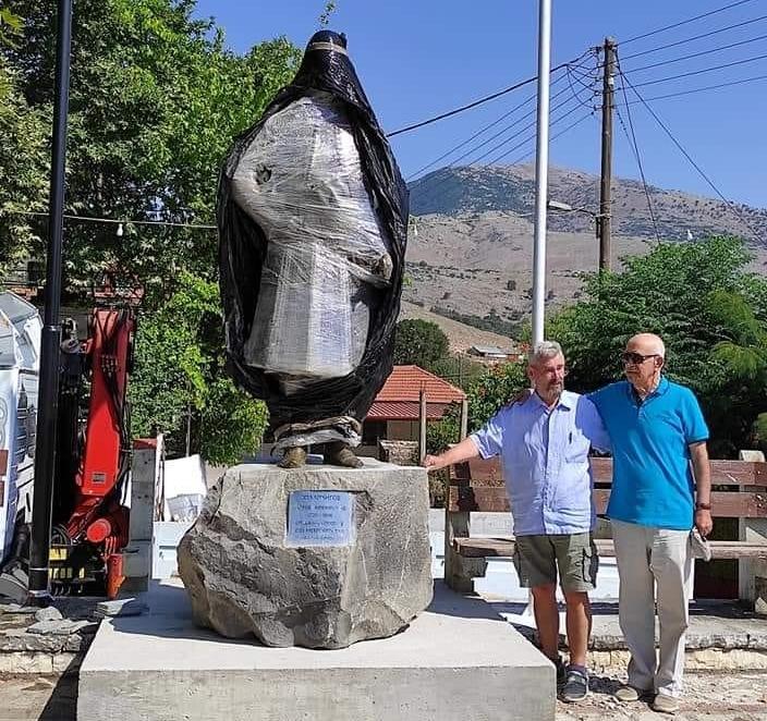 Αποκαλυπτήρια στην Κρανιά για το άγαλμα του μεγάλου αγωνιστή της επανάστασης Φώτη Μπόμπορη