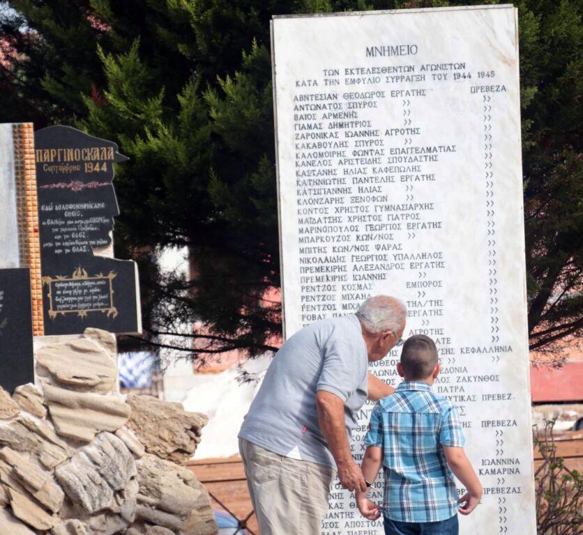 Πραγματοποιήθηκε στην Παργινόσκαλα η εκδήλωση τιμής και μνήμης των εκτελεσμένων ανταρτοεπονιτών από τον ΕΔΕΣ